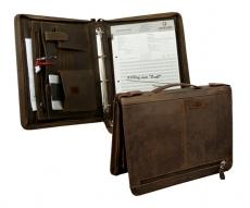 Schreibmappe  Orell  / OLD-SCHOOL- (25)-vintage-brown