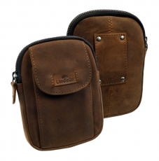Gürtaltasche   / OLD-SCHOOL- (25)-vintage-brown