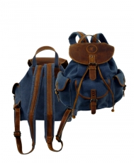 Biker Rucksack   / SAILCLOTH-(26)-Canvas-blue
