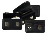 Lock-Wallet  / 4tlg. Schloßbörse (20)-schwarz