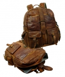 Rucksack Jerome/ RUGGED-HIDE- (24)-WASHED-BROWN