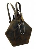 Rucksack-Citybag / OLD-SCHOOL - (25)-vintage-brown
