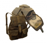 Rucksack    / OLD-SCHOOL- (25)-vintage-brown