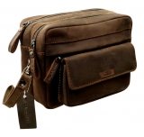 2 tlg. Pouch Joub  / OLD-SCHOOL- (25)-vintage-brown