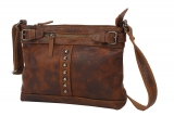 Umhängetasche / RUGGED-HIDE- (24)-WASHED-BROWN