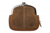 Doppel-Bügelbörse / OLD-SCHOOL- (25)-vintage-brown