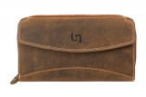 RV-Langbörse / OLD-SCHOOL- (25)-vintage-brown